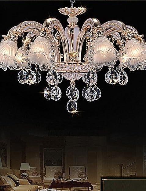 RXFRD 10 Leuchten Moderne Einfache European Style Kronleuchter Blumen  Kristall LED Pendelleuchten 220 240V