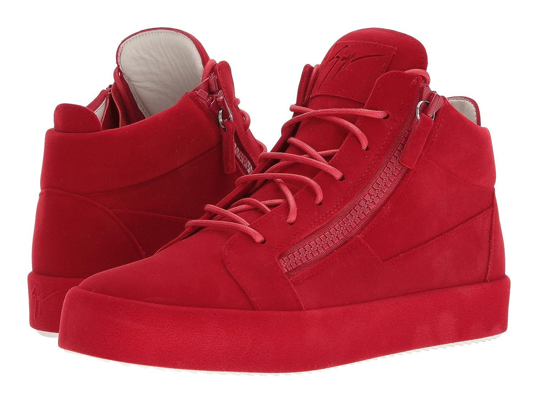 [ジュゼッペザノッティ] メンズ スニーカー May London Mid Top Flocked Sneaker [並行輸入品] B07CZ9BDG7