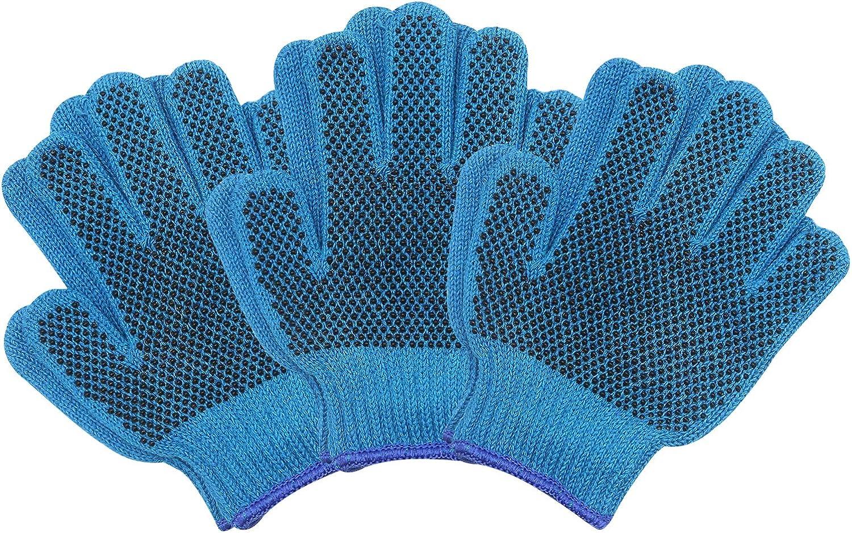 MIG4U Kids Gardening Gloves with Non-slip Silicone Dots Children Work Gloves 3 pairs