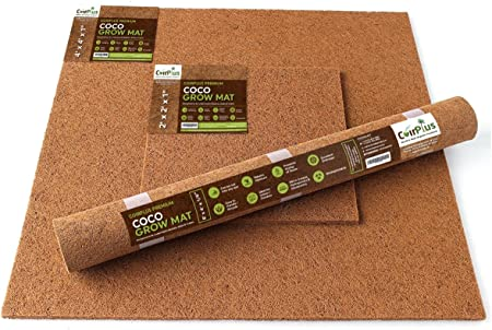 Amazon Com Coirplus Premium Coco Grow Mat Omri Listed 8 Ft X 4 Ft X 1 4 In 2 Pieces 100 Natural Organic For Growing Microgreens Wheatgrass Etc Garden Outdoor