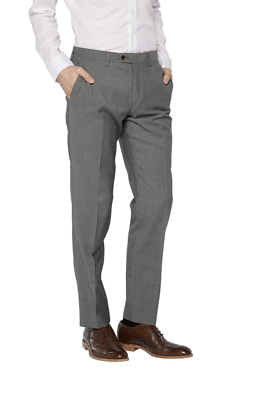 next Hombre Traje Lana Italiana: Pantalones Corte Sartorial ...