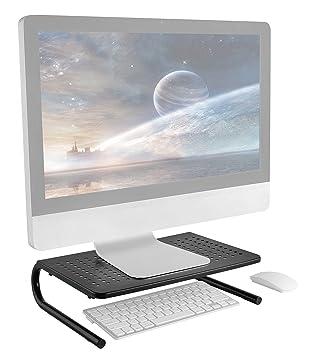 RICOO Soporte para Monitor PC Ordenador FS082-B para Mesa de sobremesa de monitores 4K