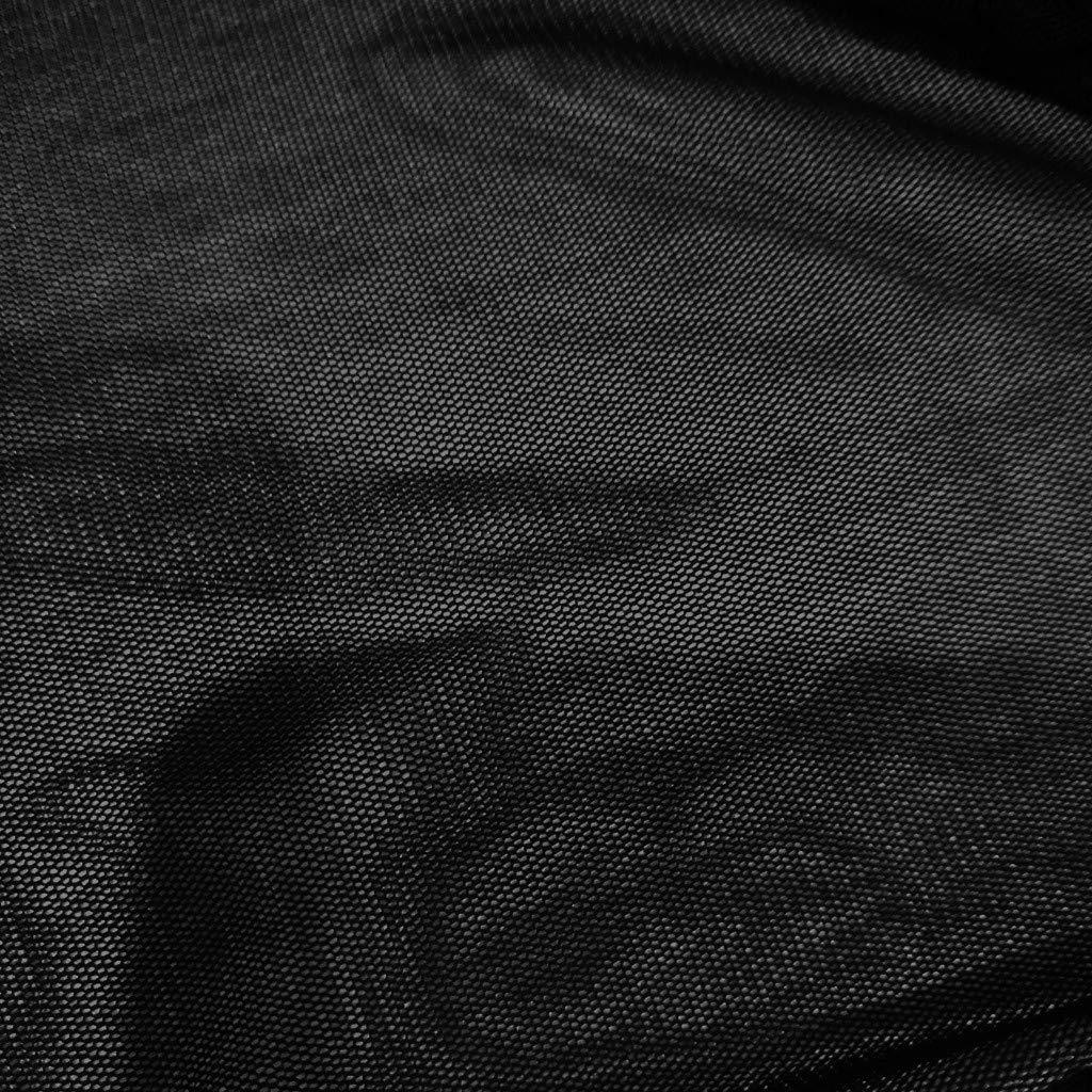 Lingyan Donna Trasparente Chiffon Maglie A Manica Lunga Intimo Curvy Bluse Top Slim Fit Nera