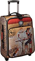 Nicole Lee 20 inch Crinkled Nylon Carry-on (Coffee)
