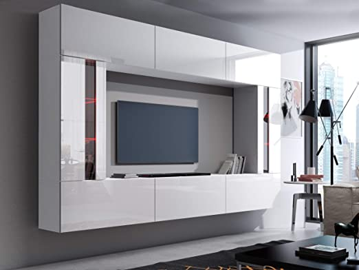 HomeDirectLTD Future 28, Conjunto de Muebles De Salón, Módulo Bajo ...