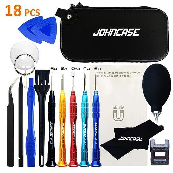 9516efc6e4908d Johncase 18 Pcs Professional Precision Cell Phone Electronics Repair Tool  Kit,Magnetic Screwdriver Driver Set