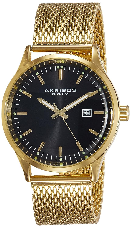Akribos XXIV Herren-Armbanduhr AK901YGB Analog Quarz