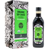 Soeos Organic Low Sodium Soy Sauce 16.2oz(480ml) , USDA ORGANIC, Organic Soy Sauce, Dark Soy Sauce, Naturally Brewed Soy Sauc