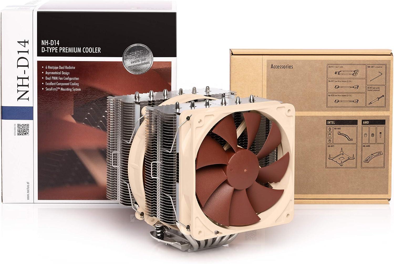 Noctua NH-D14, Disipador de CPU de 140 mm y Doble Torre y Máxima ...