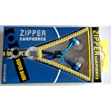 Zipper Earphones/Hands free With Mic *Stylish Design* for all Mobiles- computers & laptops, Color May Vary