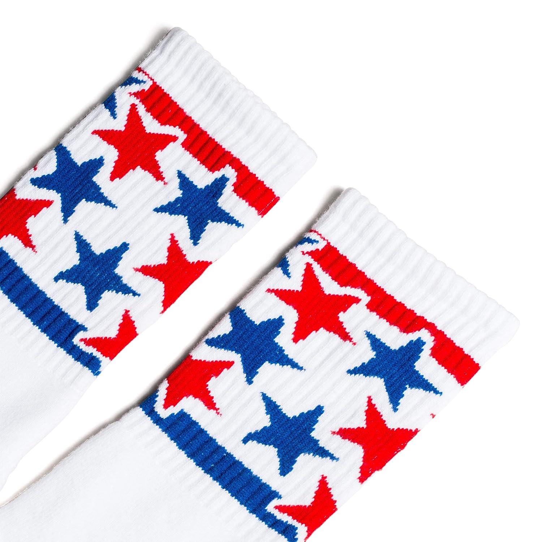 SOCCO Made in USA Crew White Star Spangled Mo Star