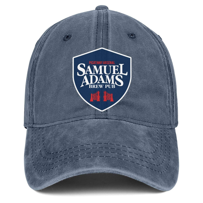 Man Women Sam-Adams-Brew-Pub Hats Simple Cowboy Cap Athletic Caps Denim