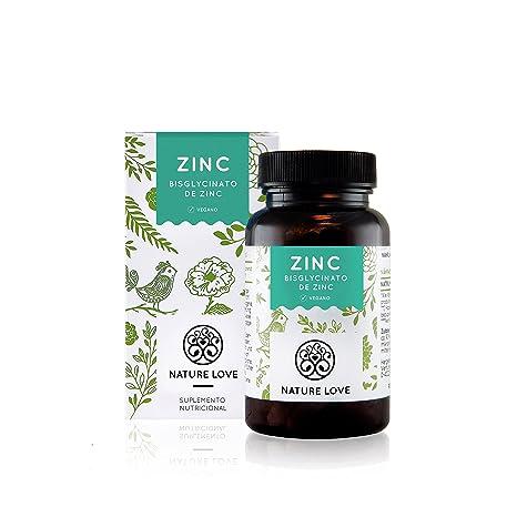 NATURE LOVE® Zinc - 365 comprimidos por un inventario del año. 25 mg de