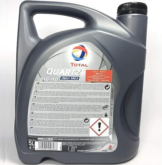 Total Quartz Ineo Mc3 5w 40 5 Liter Auto
