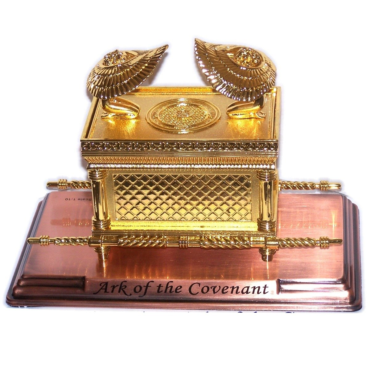 Large Ark of The Covenant on Copper Base by Shofars From Afar