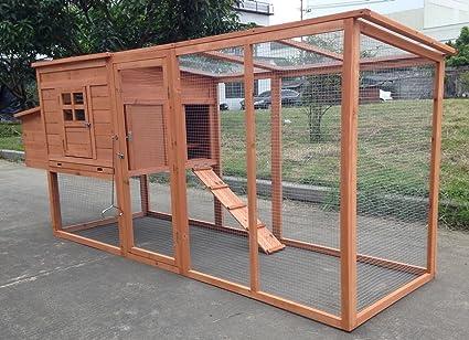 "chickencoopoutlet grande 95 ""Deluxe de Madera Maciza Gallina pollo jaula Casa Coop enorme con"
