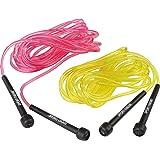Sport-Thieme Double-Dutch Seile | Springseil-Set für Seilspringen, Gruppenseilspringen u. Rope-Skipping | 4,8 m lang | Kunststoff mit Kunststoffgriffen | 257 g | Neonfarben | Markenqualität