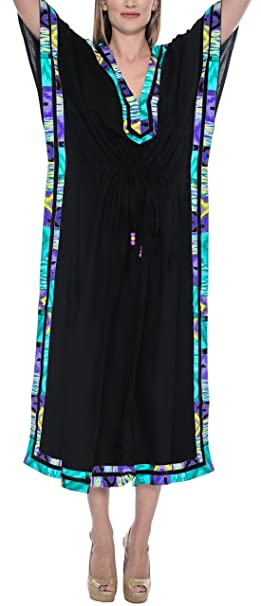 Soft Rayon Plain Robe Plus Women Long Beach Dress Maxi Lounge Caftan Cover  up at Amazon Women s Clothing store  c7ee26156