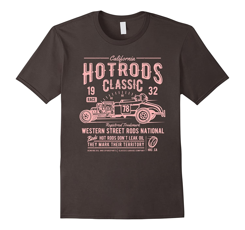 Classic Retro 1930s Custom Hotrod Rods Car Racing T Shirt-TD