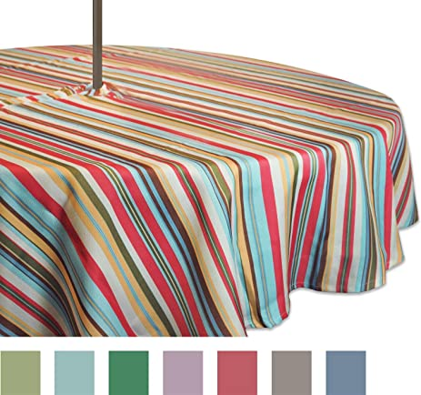 DII 100% Polyester, Spill Proof And Waterproof, Machine Washable, Outdoor  Tablecloth With