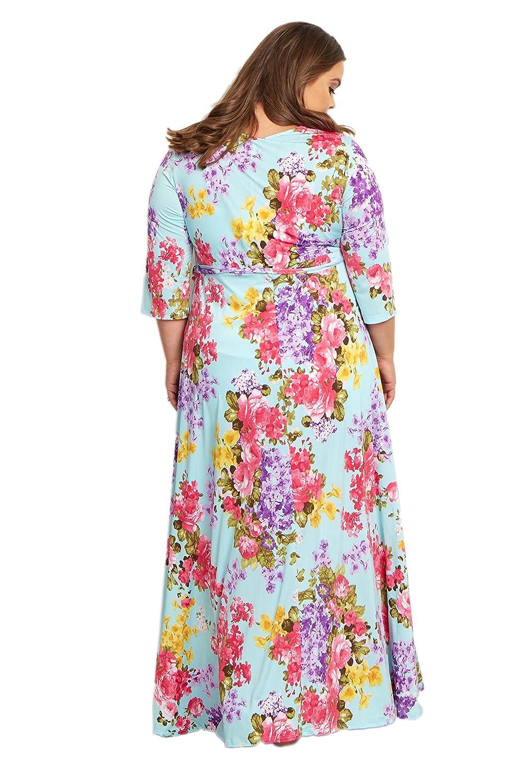 1db95a1c75f01 PinkBlush Maternity Floral Sash Tie Plus Size Maxi Dress at Amazon Women's  Clothing store: