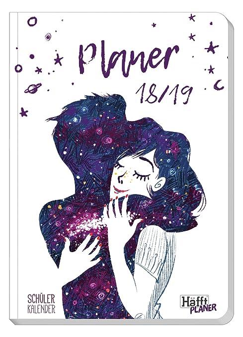 Schülerkalender Häfft PLANER Pocket A5 2018/2019 [One with the Universe] Fadenheftung, Hausaufgabenheft/Schüler-Tagebuch/Schülerplaner
