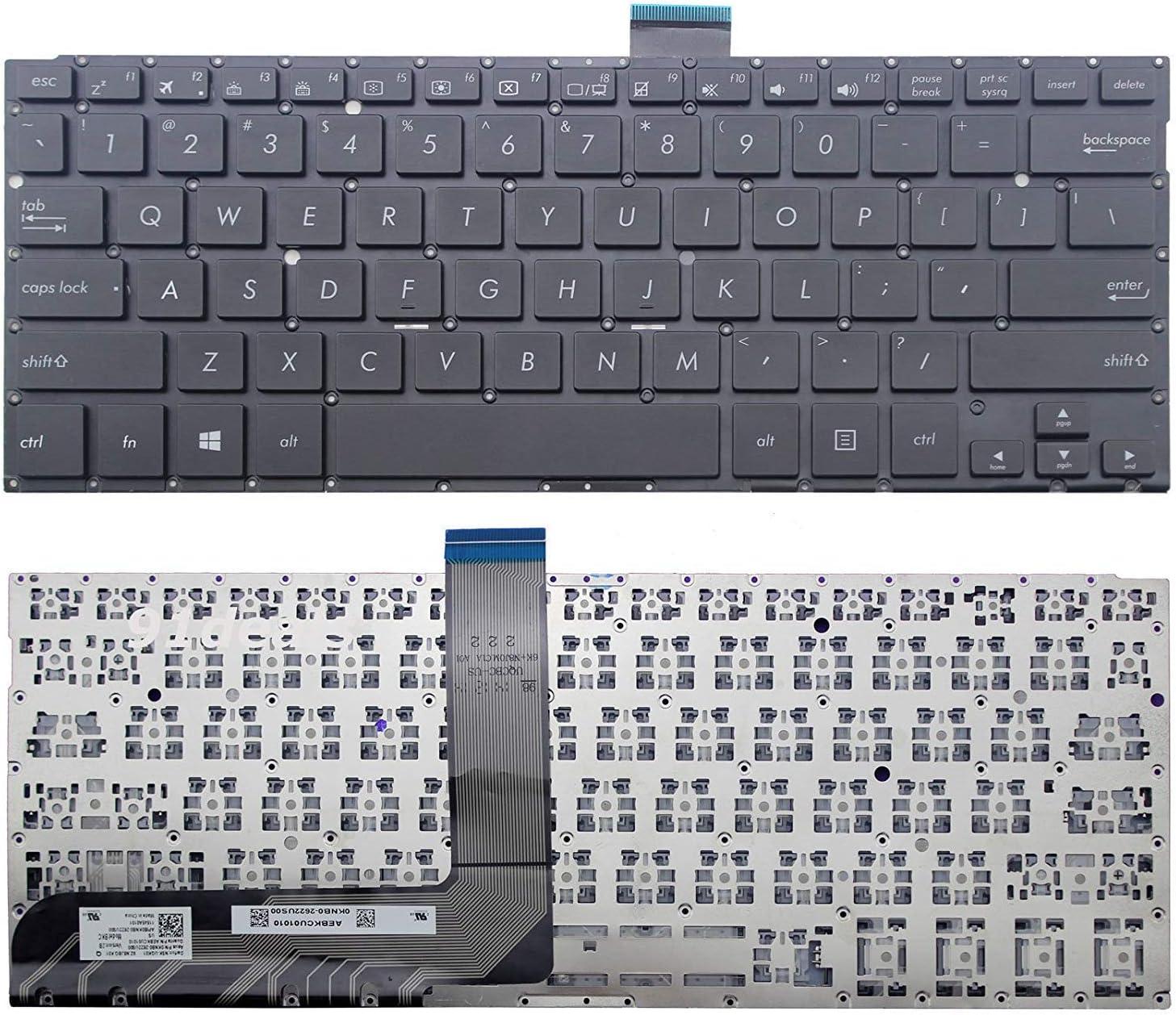 Original New Laptop Replacement US Black Keyboard for Asus TP301UJ TP300 TP300L TP300LD TP300LJ TP300UA NSK-UQK01 No Frame