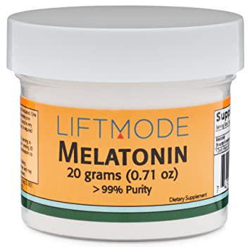 LiftMode Melatonin Powder Supplement - for Healthy Sleep and Stress Reduction | Vegetarian, Vegan,