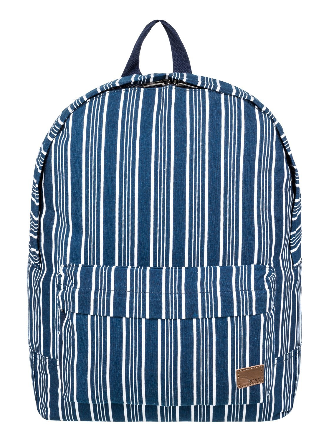 Roxy Junior's Sugar Baby Canvas Backpack, Dress Blues Vertical Stripes, One Size