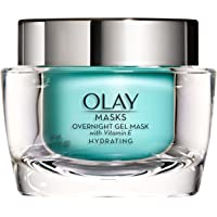 Olay Overnight Face Mask Hydrating Gel with Vitamin E and Hyaluronic Acid 1.7 Fl Ounce