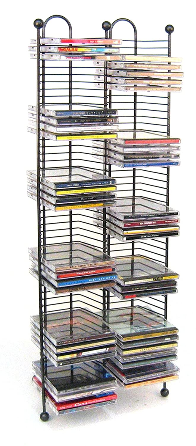 Amazon.com: Atlantic Nestable 63705079 100 CD Tower Gunmetal: Home Audio U0026  Theater