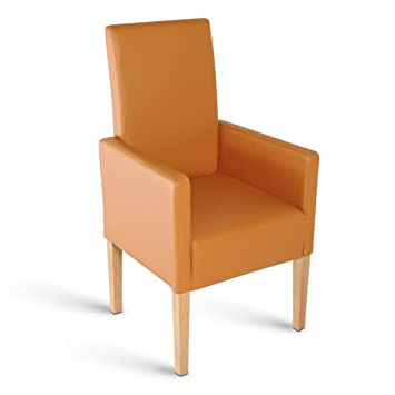 Sam Esszimmer Armlehnstuhl Turin Stuhl In Cognac Mit Buchefarbenen
