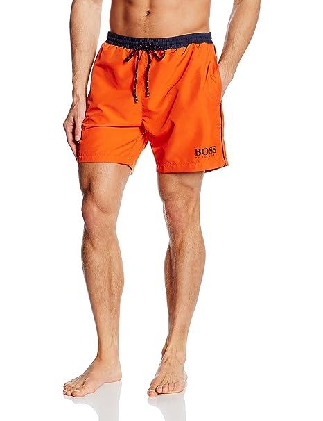 39400b2c4 Hugo Boss Starfish Men's Swim Shorts, Orange/Navy X-Large: Amazon.ca ...