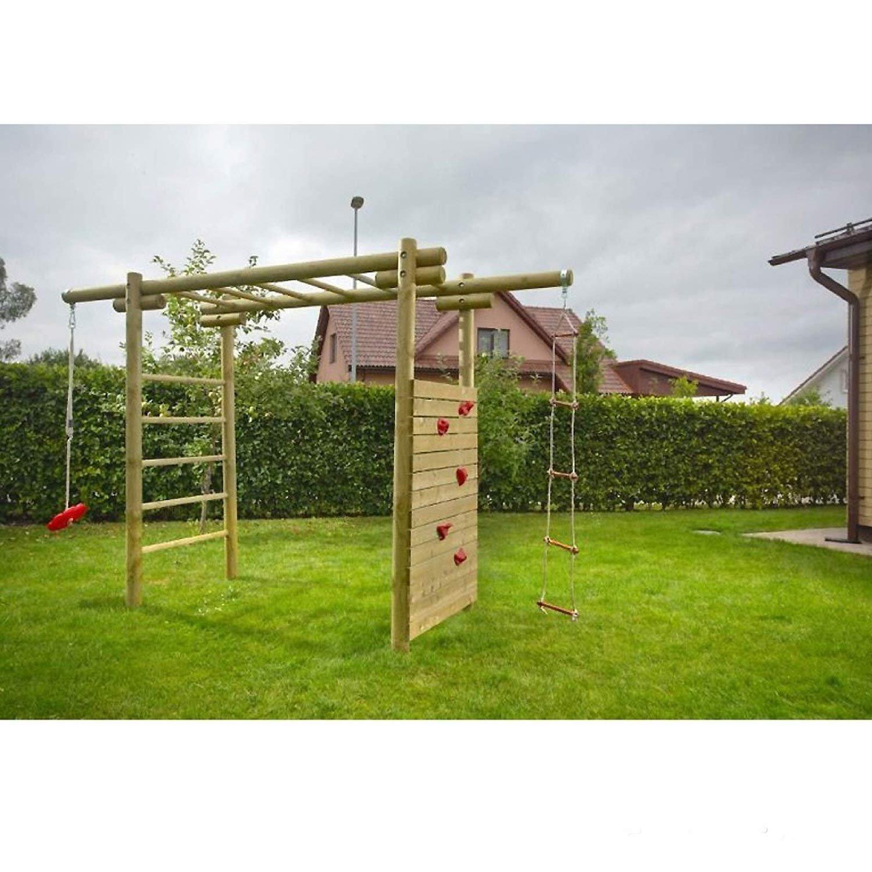 Klettergerüst Classic aus Holz für Kinder im Garten 3,6x1,2x2,3 von ...
