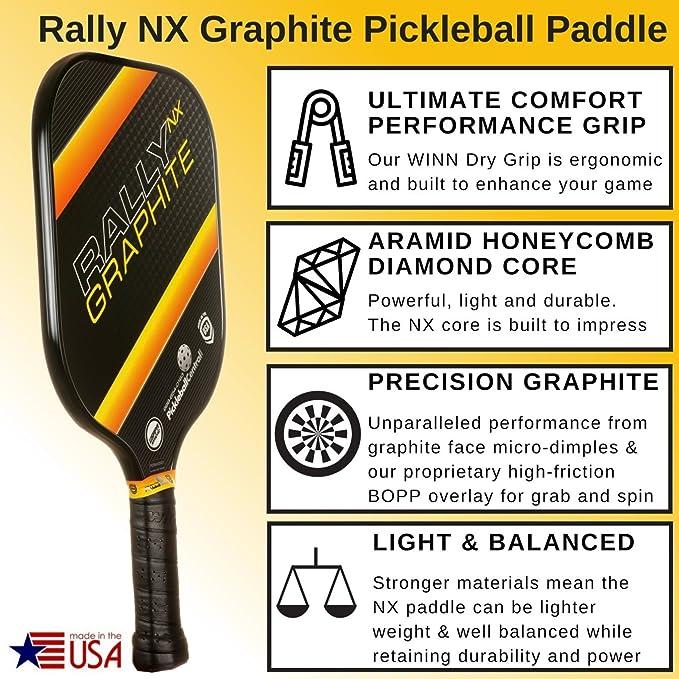 Amazon.com: Pala de Pickleball - Rally NX Paleta de ...