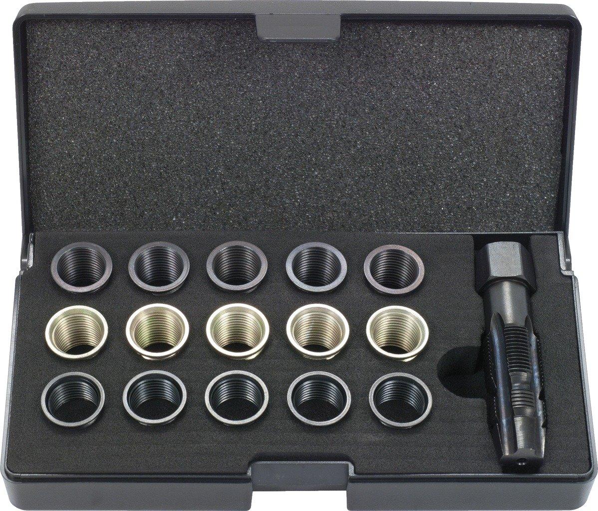 KS Tools 150.1280 Pack de 16 piezas con juego de reparación de roscas de bujías 16pcs Set: Amazon.es: Bricolaje y herramientas