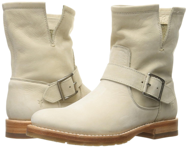 FRYE Women's Natalie Short Engineer Boot B01H5KHVL8 8 B(M) US|Ivory