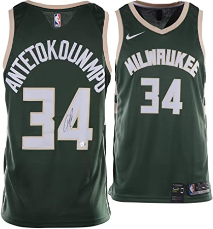22a0f7aa Giannis Antetokounmpo Milwaukee Bucks Autographed Nike Green Icon Swingman  Jersey - Fanatics Authentic Certified