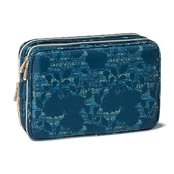 Amazon Com Sonia Kashuk Travel Tote Makeup Bag Floral Blue