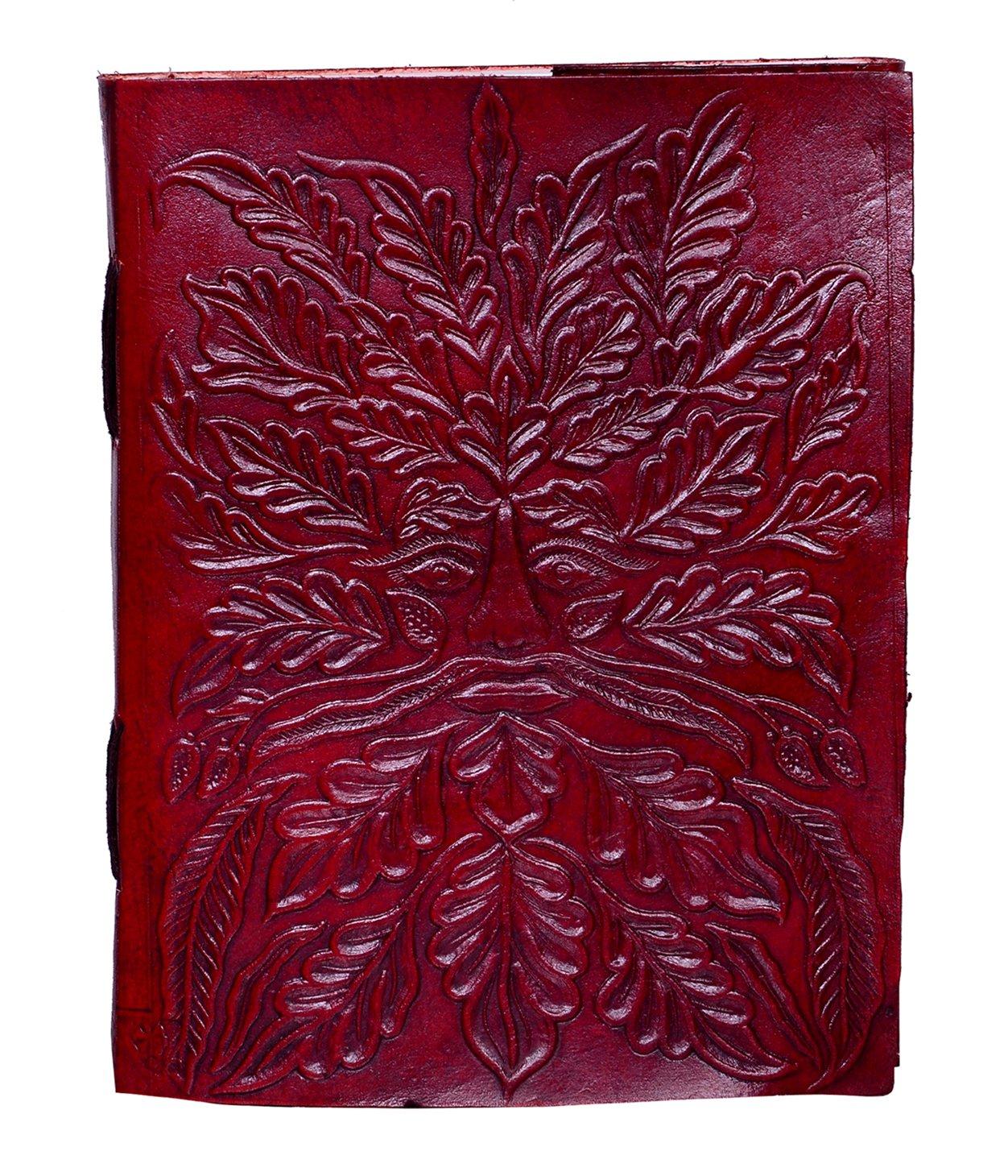 """purpledip diario de cuero/diario/cuaderno """"Bacchus, el dios de la naturaleza y fiesta"""": Tratado de forma natural papel recubierto en piel de cabra de silicona para regalo de empresa o personal Memoir (10510) LJ11"""