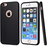 totallee iPhone 6 Plus Case, iPhone 6s Plus Case, Black Durable Shock Absorbing Rubber Cover with Excellent Grip fits 5.5 inch iPhone - Tough & Protective and Slim The Doberman (Black)