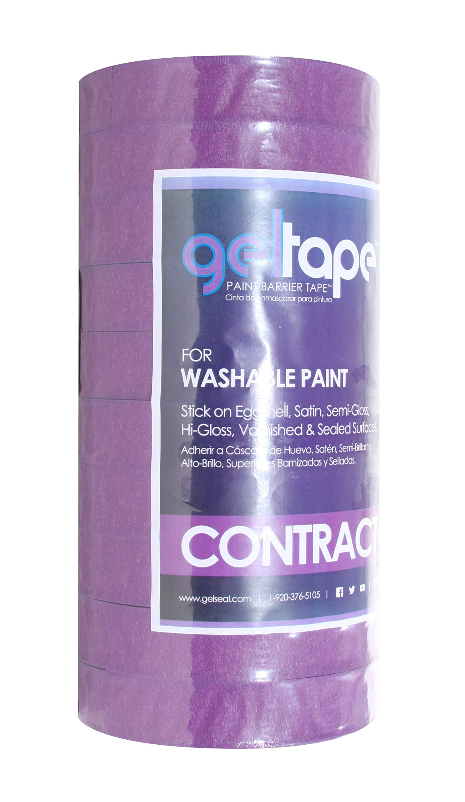 GelTape - Painter's Tape for Washable Textured Surfaces 10 Roll Contractor Pack