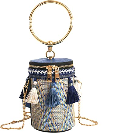 craft Tassels of many colors with bronze colored top and short chain for purses