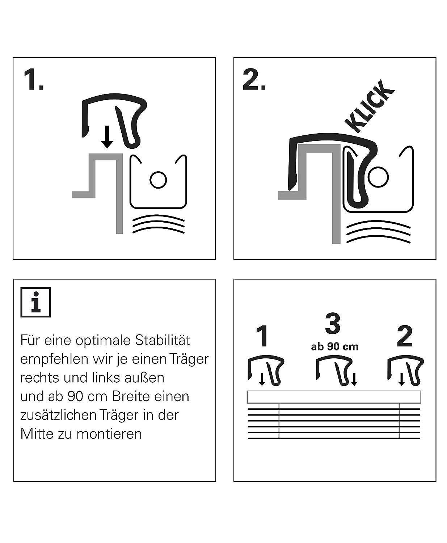 50 x 130 cm Kit de Montage Inclus Argent/é Protection contre la lumi/ère et l/éblouissement Confidentialit/é LxH Montage mural et au plafond Deco Company Stores V/énitiens en Aluminium