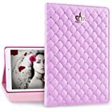 IDEGG Princess iPad 2 3 4 Case for Girls and Women, Fashion PU Leather Cover with Bling Crown, Just Fits iPad 2nd Generation (2011), 3rd Generation (2012) and 4th Generation (2013) (Pink)