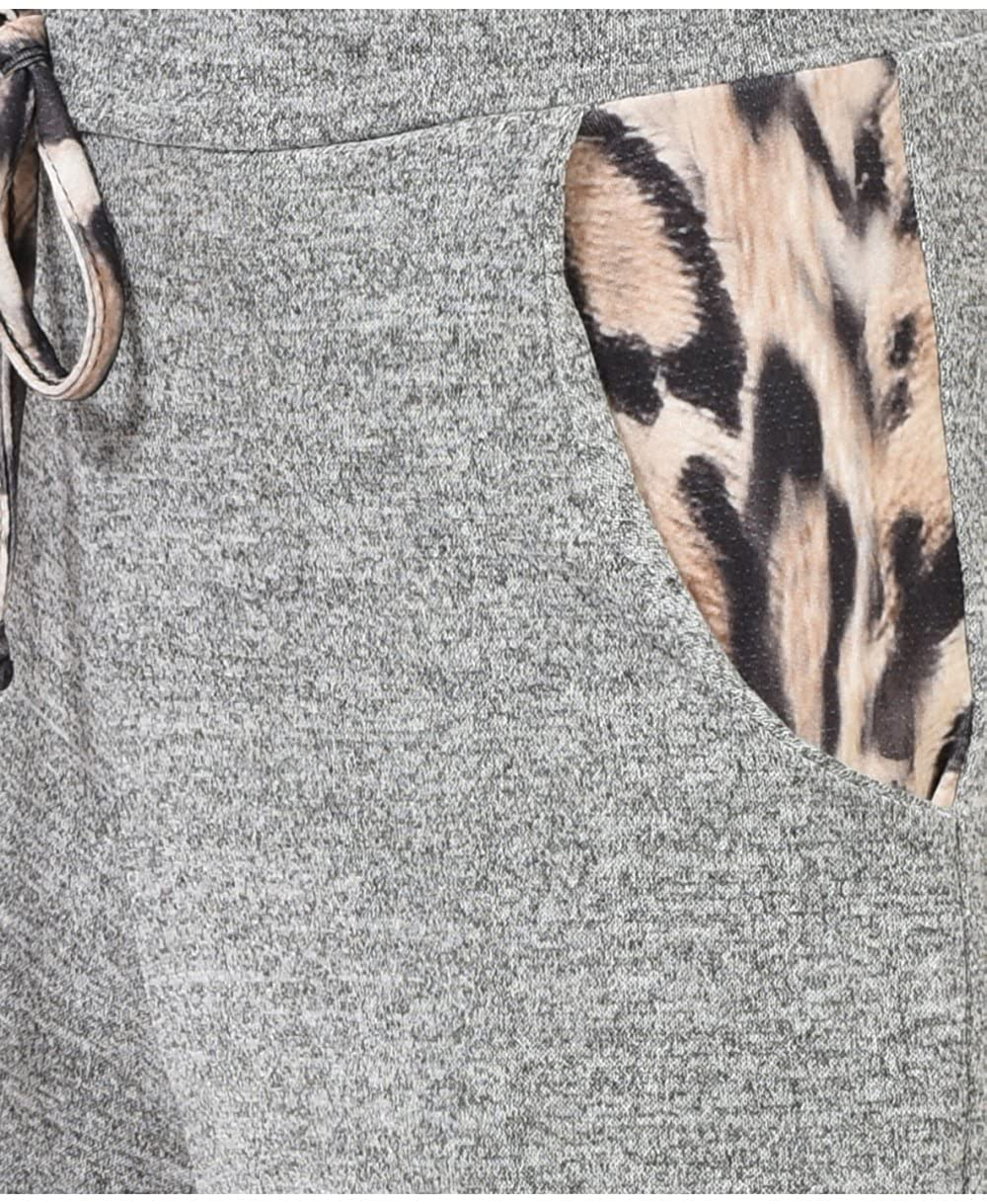 Womens Leopard Two Piece Joggers Lounge Set Plus Size Comfort Fit