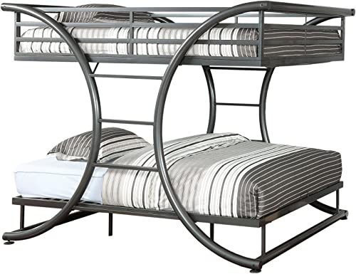 Furniture of America Central X-Shape Metal Bunk Bed