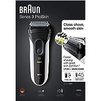 Braun Series 3 ProSkin 3020s Rasoir Électrique Homme Barbe, Noir/Blanc - Rasoir Électrique Rechargeable