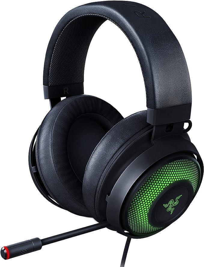 Razer Kraken Ultimate RGB USB Gaming Headset: THX 7.1 Spatial Surround Sound - Chroma RGB Lighting - Retractable Active Noise Cancelling Mic - Aluminum & Steel Frame - for PC - Matte Black: Amazon.com.au: Electronics
