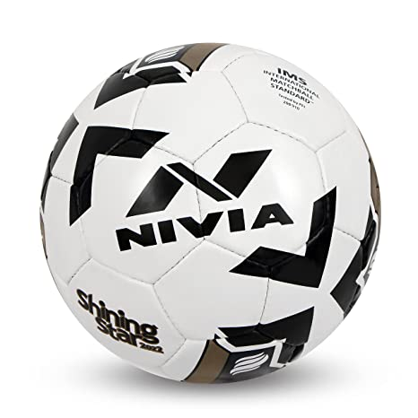 Nivia Shining Star 2022 Football, Size 5  White  Football Match Balls